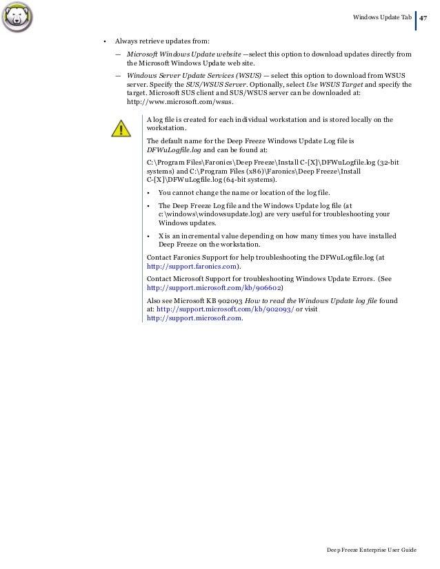 deep freeze server enterprise download