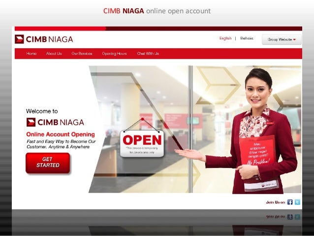 CIMB NIAGA online open account
