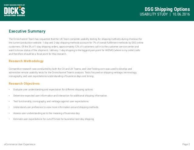Shipping Options Optimization Study Slide 2
