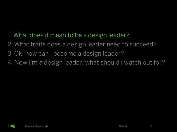 Becoming a Design Leader Slide 2