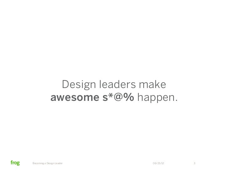 Becoming a Design Leader Slide 3