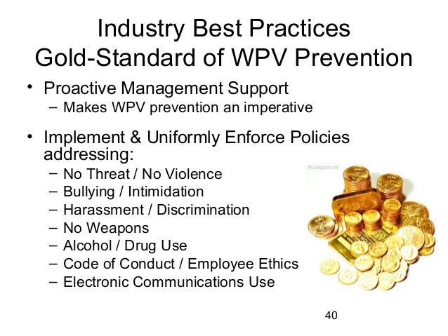 Basic recommendations for preventing violence in the workplace