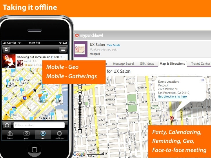 Taking it offline                 Mobile - Geo             Mobile - Gatherings                                       Party, ...