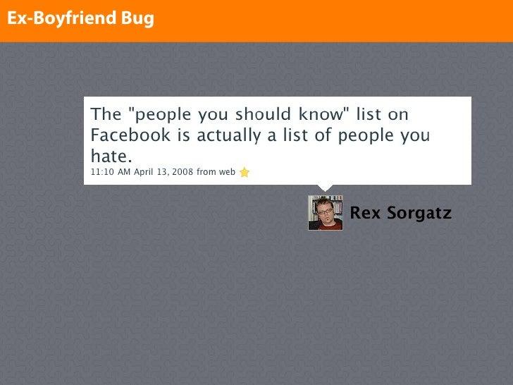 Ex-Boyfriend Bug Enter text here