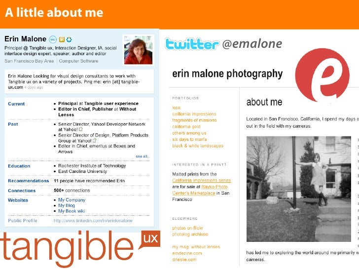 A little about me                      @emalone