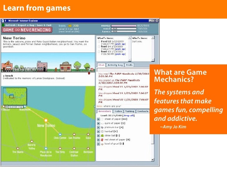 Learn from games                        What are Game                    Mechanics?                    The systems and    ...