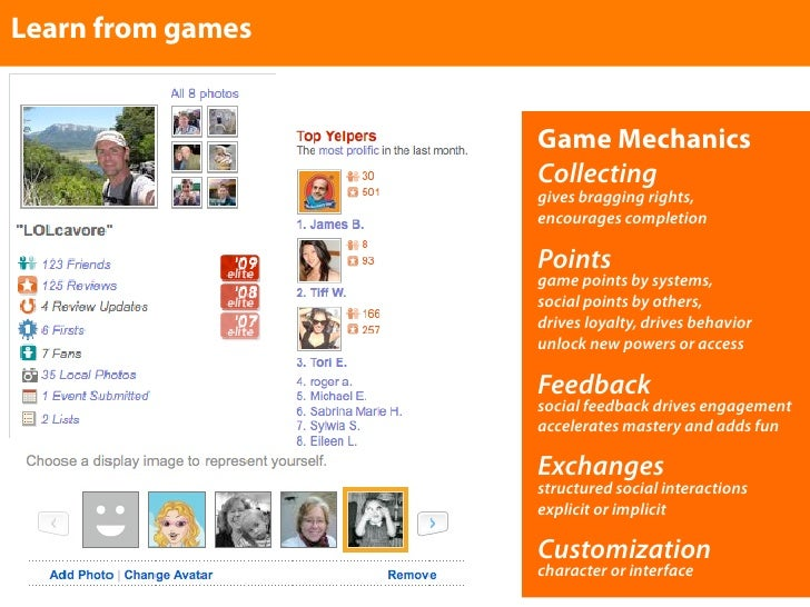Learn from games                      Game Mechanics                    Collecting                    gives bragging right...