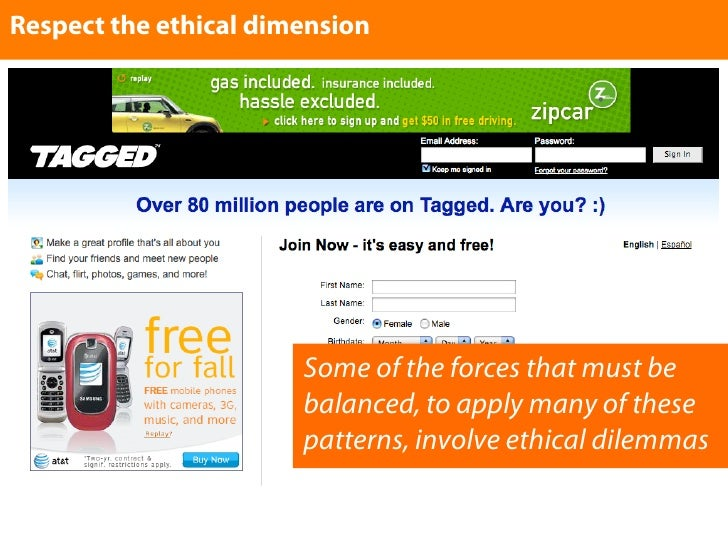 Respect the ethical dimension                            Some of the forces that must be                        balanced, ...