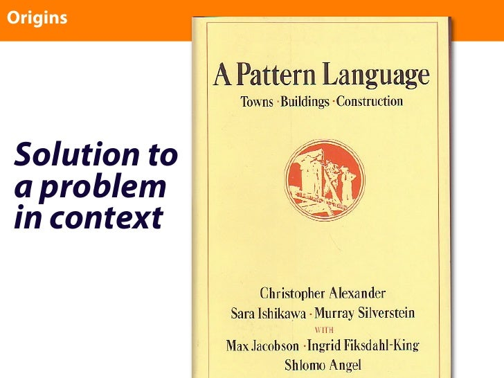 Origins     Solution to a problem in context