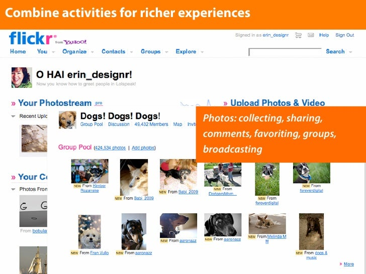 Combine activities for richer experiences                                      Photos: collecting, sharing,               ...