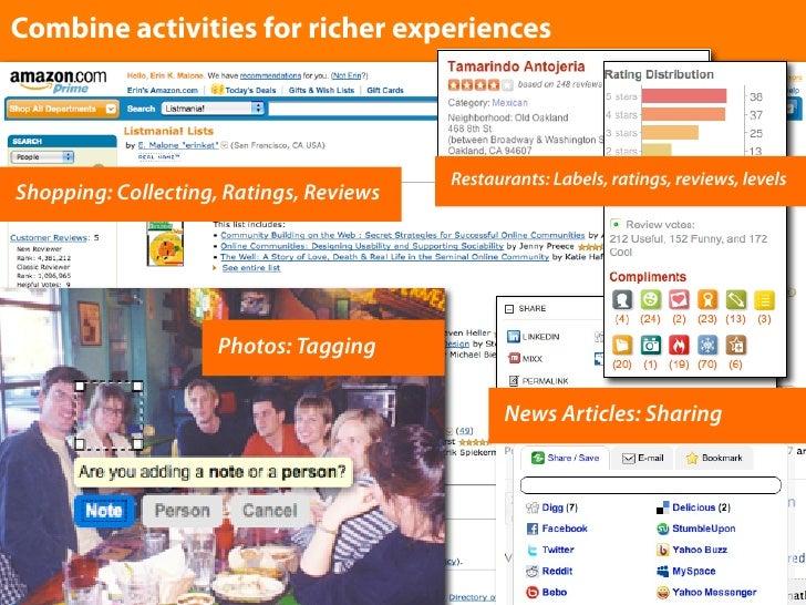 Combine activities for richer experiences                                             Restaurants: Labels, ratings, review...