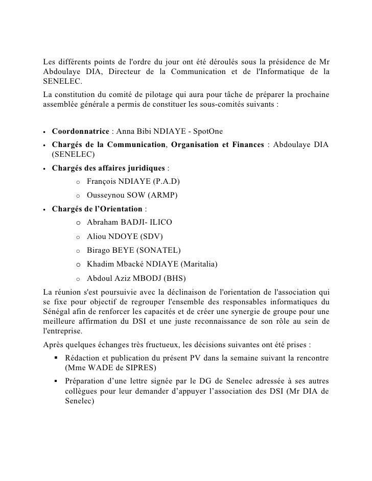 Les différents points de l'ordre du jour ont été déroulés sous la présidence de Mr Abdoulaye DIA, Directeur de la Communic...