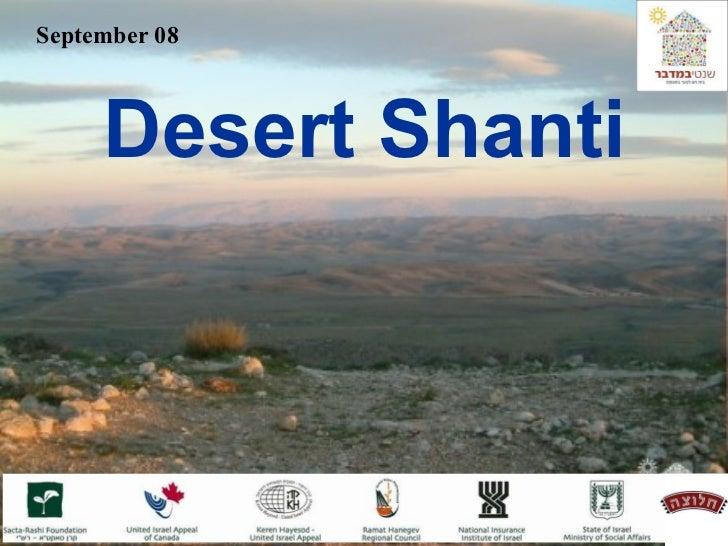 September 08 Desert Shanti