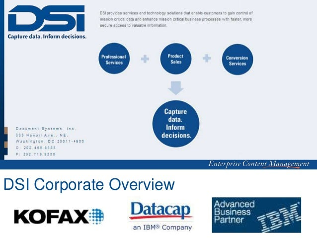 DSI Corporate Overview   1