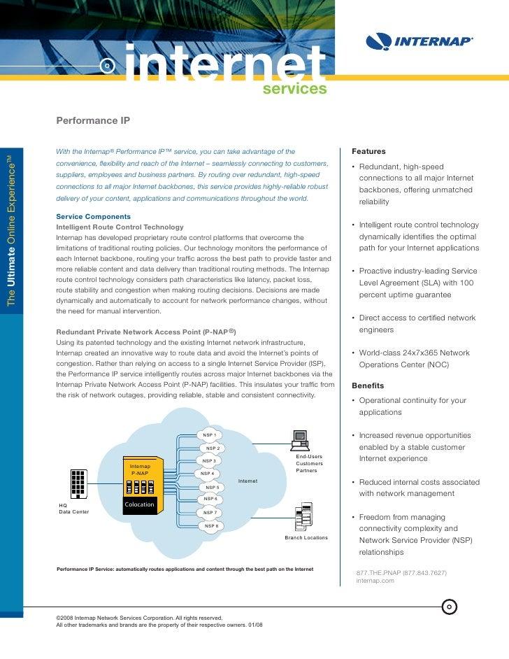internet                                                   services                                    Performance IP     ...