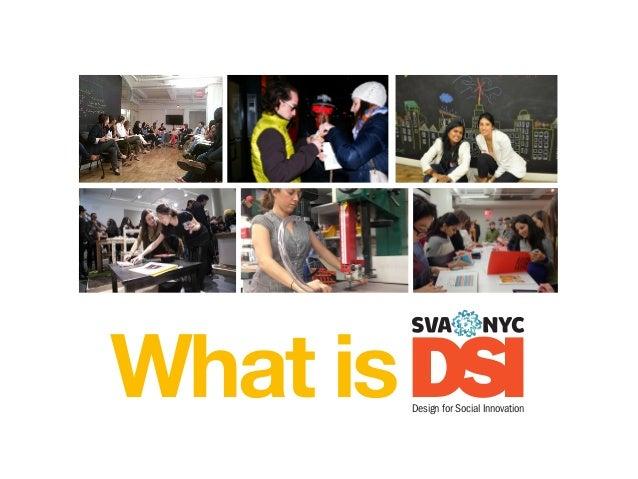 What is DSI Design for Social Innovation