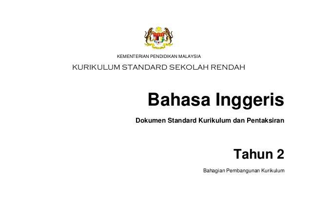 DSKP BAHASA INGGERIS TAHUN 2 Slide 3