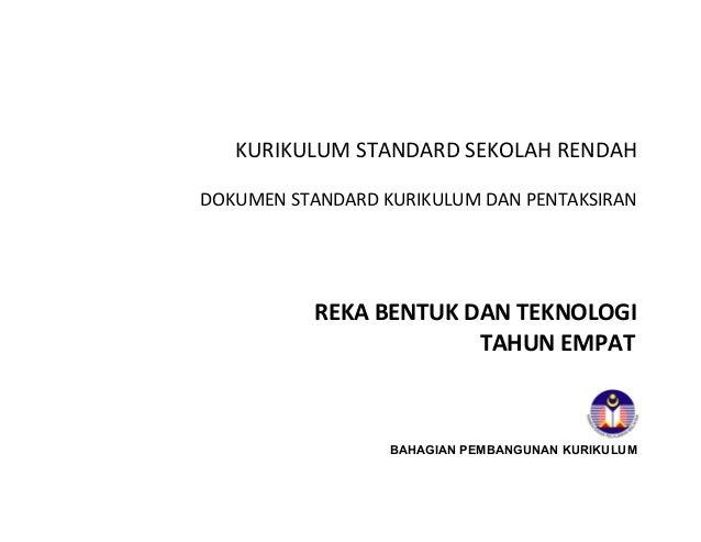 Dokumen Standard Kurikulum Dan Pentaksiran Dskp Terbaru Rbt Thn 4