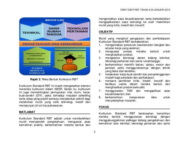 DRAF DSKP RBT TAHUN 6 20 JANUARI 2015 5 Tajuk Penerangan f. proses pembinaan, pengujian dan penambahbaikan; dan g. membuat...