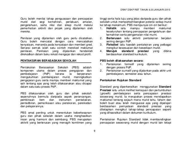 DRAF DSKP RBT TAHUN 6 20 JANUARI 2015 11 Tafsiran TP Secara Umum TP TAFSIRAN 1 Murid tahu perkara asas atau boleh melakuka...