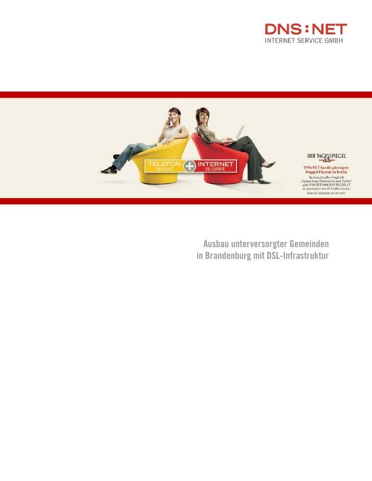 Ausbau unterversorgter Gemeinden in Brandenburg mit DSL-Infrastruktur