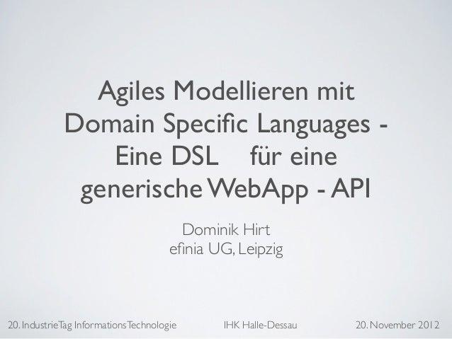 Agiles Modellieren mit Domain Specific Languages Slide 2