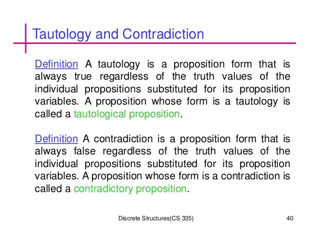 tautology in discrete mathematics pdf
