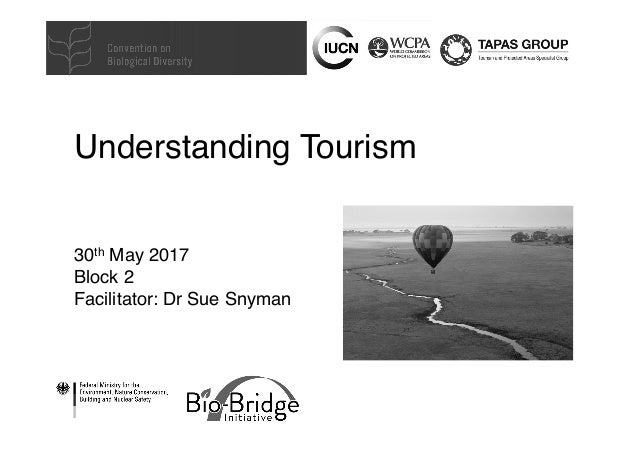 Understanding Tourism 30th May 2017 Block 2 Facilitator: Dr Sue Snyman
