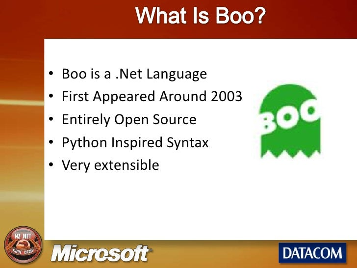 Domain Specific Languages, with a side-order of Boo