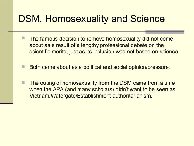 Homosexuality removed dsm 4