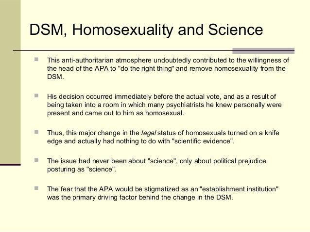 Dsm-ii homosexuality diagnosis