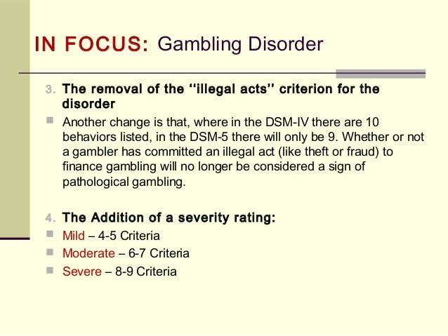 Dsm pathological gambling definition green valley ranch casino & resort