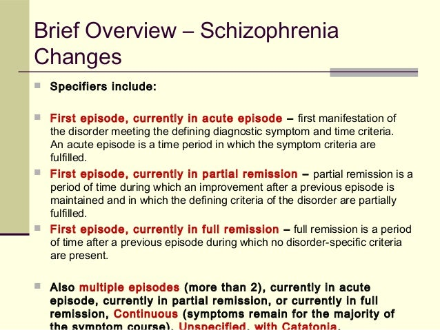 a brief overview of schizophrenia Bertrando, p (2006) the evolution of family interventions for schizophrenia a tribute to gianfranco cecchin journal of family therapy, 28(1): 4-22 burbach, fr (1996) family based interventions in psychosis: an overview of, and comparison between, family therapy and family management.