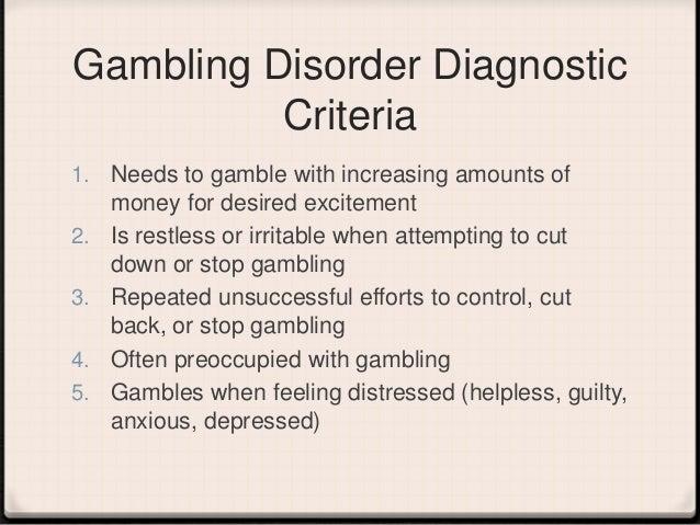 Gambling addiction in the dsm bonification libre casinos