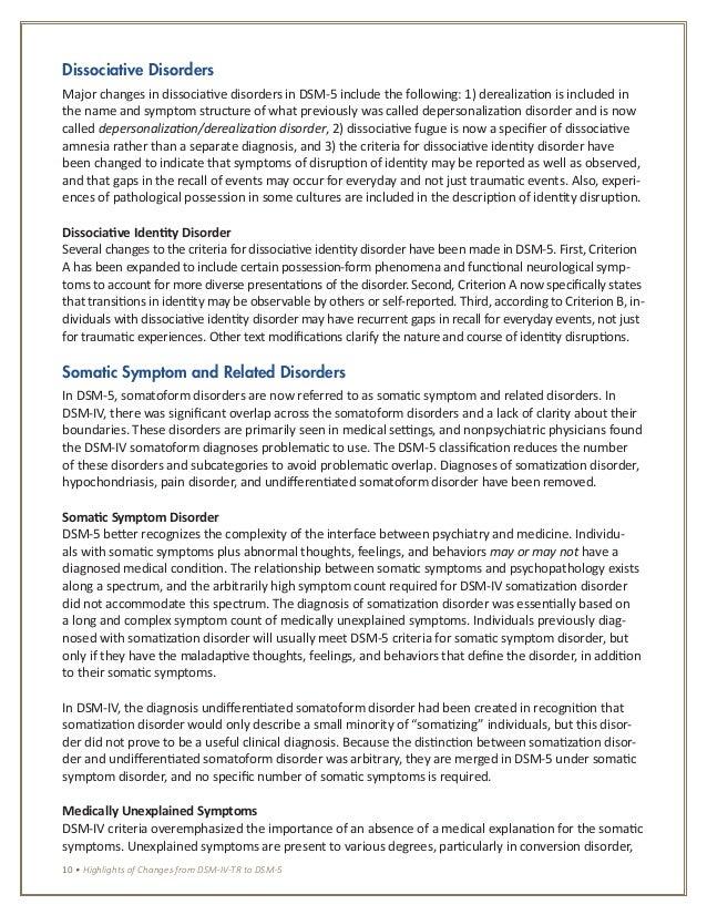 DSM-IV-TR in Action: DSM-5 E-Chapter Update