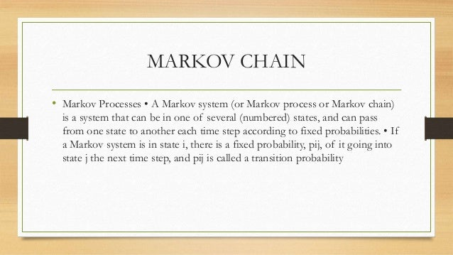 a markov chain study on mortgage A markov process with finite or countable state space the theory of markov chains was created by aa markov who, in 1907, initiated the study of sequences of dependent trials and related sums of random variables [m.