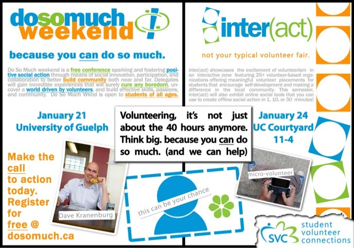 Newspaper ad for Student Volunteer Connections