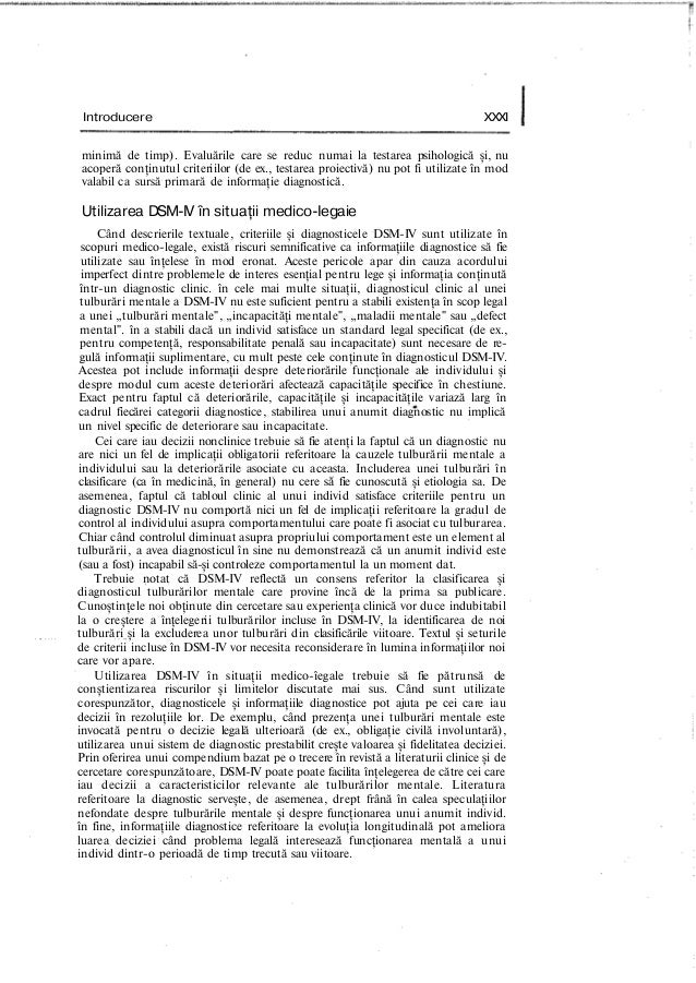 Introducere XXXI minimă de timp). Evaluările care se reduc numai la testarea psihologică şi, nu acoperă conţinutul criteri...