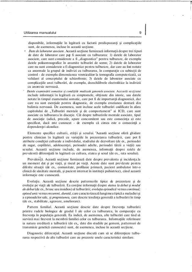 Utilizarea manualului 9 disponibile, informaţiile în legătură cu factorii predispozanţi şi complicaţiile sunt, de asemenea...