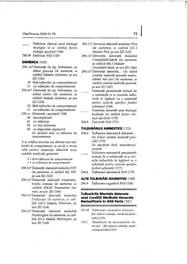293.89 Tulburarea catatonică datorată... [Se indică condiţia, medicală gene- rală] (185) 310:1 Modificare de personalitate...