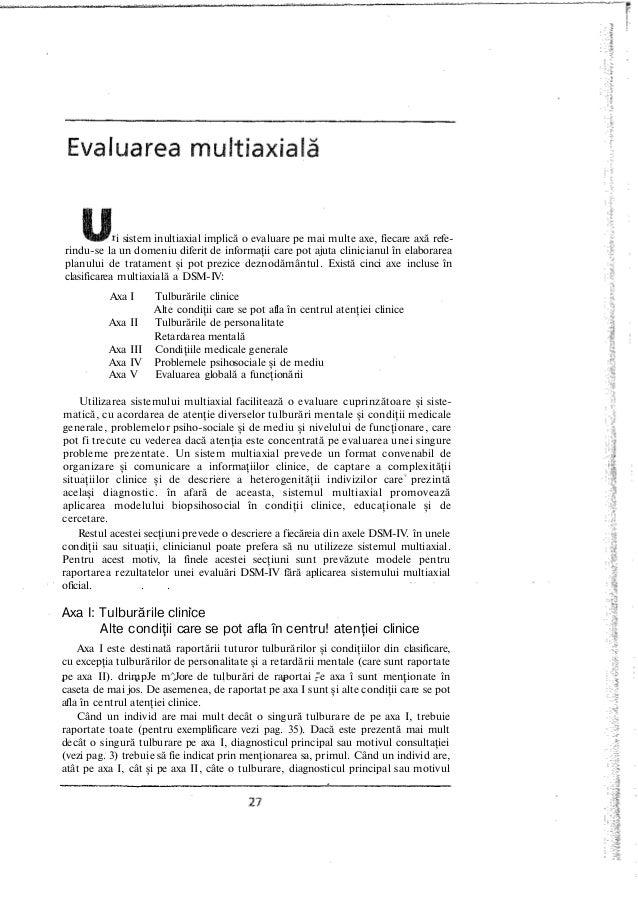 i sistem inultiaxial implică o evaluare pe mai multe axe, fiecare axă refe- rindu-se la un domeniu diferit de informaţii c...