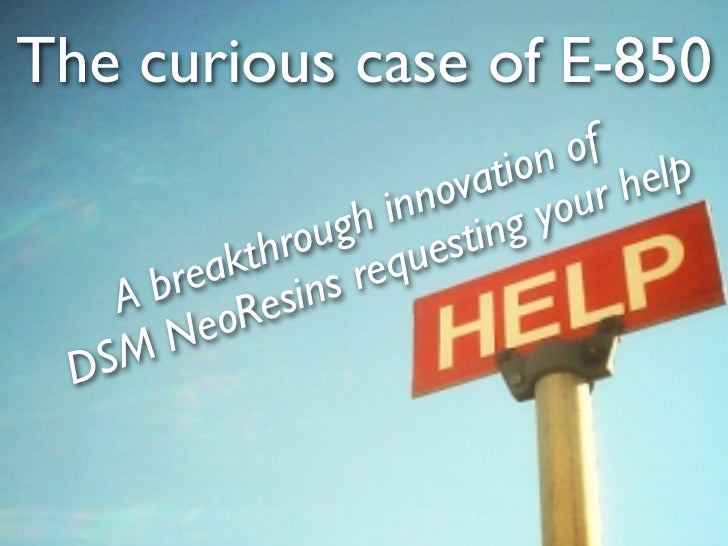 The curious case of E-850                                 of                              ion help                        ...