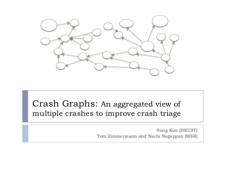 Crash Graphs: An aggregated view ofmultiple crashes to improve crash triage                                       Sung Kim...