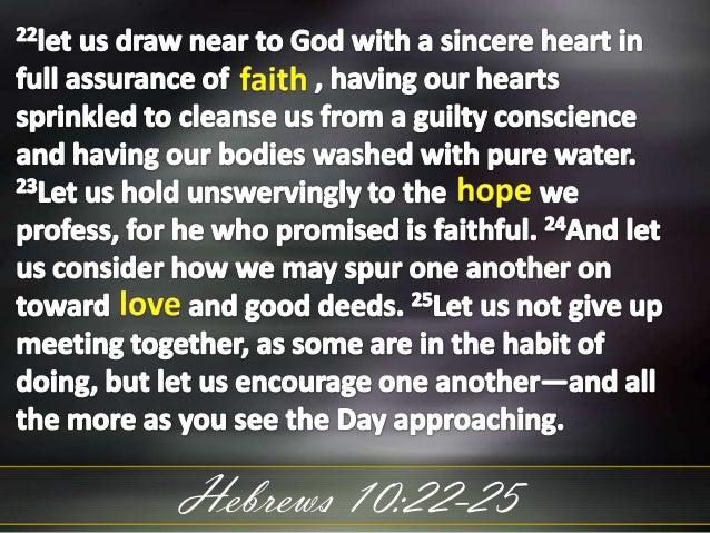 Hebrews 10:22-25