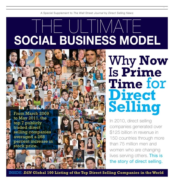 1                 A Special Supplement to The Wall Street Journal by Direct Selling News           The Ultimate  Social Bu...