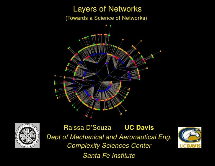 Layers of Networks       (Towards a Science of Networks)                             UC Davis      Raissa D'Souza Dept of ...