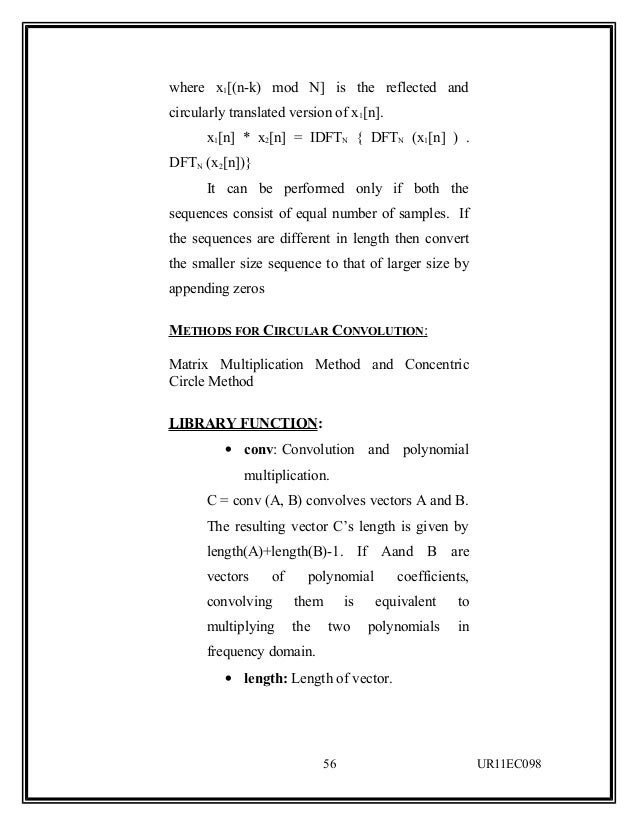Dsp Lab Manual for Ece