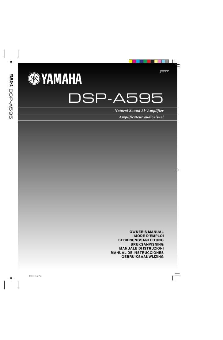 B G RT DSP-A595                                   DSP-A595                                   Natural Sound AV Amplifier   ...
