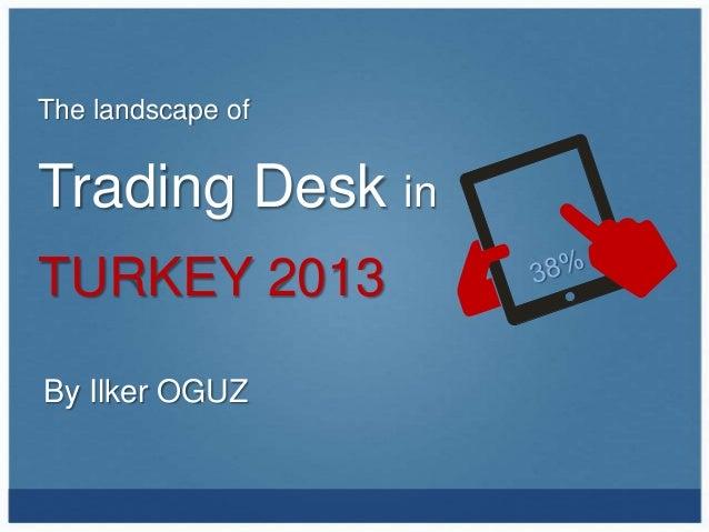 The landscape ofTrading Desk inTURKEY 2013By Ilker OGUZ