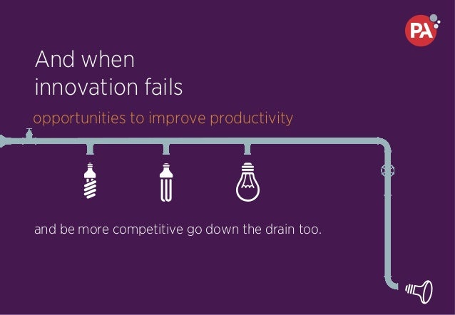 And when innovation fails and be more competitive go down the drain too. opportunities to improve productivity